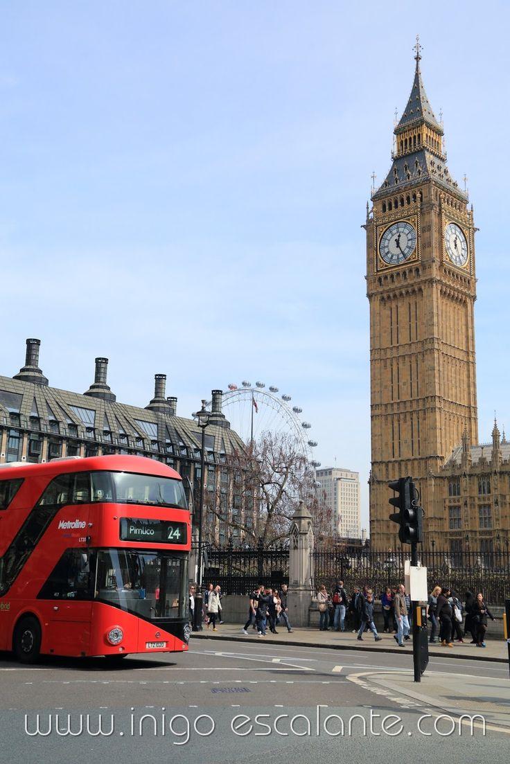 Blog sobre fotografía y viajes del fotógrafo Iñigo Escalante: Rutas y paseos recomendados por Londres (1): Desde el Palacio de Buckingham, pasando por el Parque St.James, el Big Ben, la abadia de Westminster, hasta la noria o London Eye