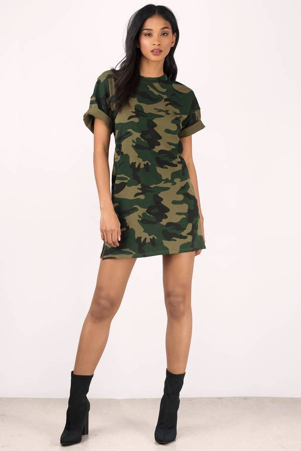 6251a7e723 After Party Camo T-Shirt Dress in 2019 | shopping - clothing | Camo ...