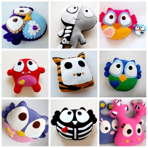 Make a Stuffed Toy- Simple Kids Project, love the owls :)