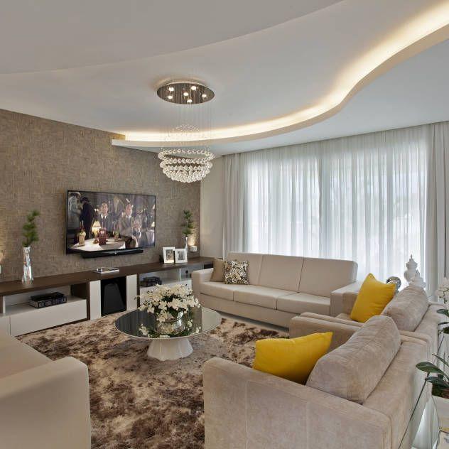 Casa Swiss Park Campinas II : Salas de estar modernas por Designer de Interiores e Paisagista Iara Kílaris