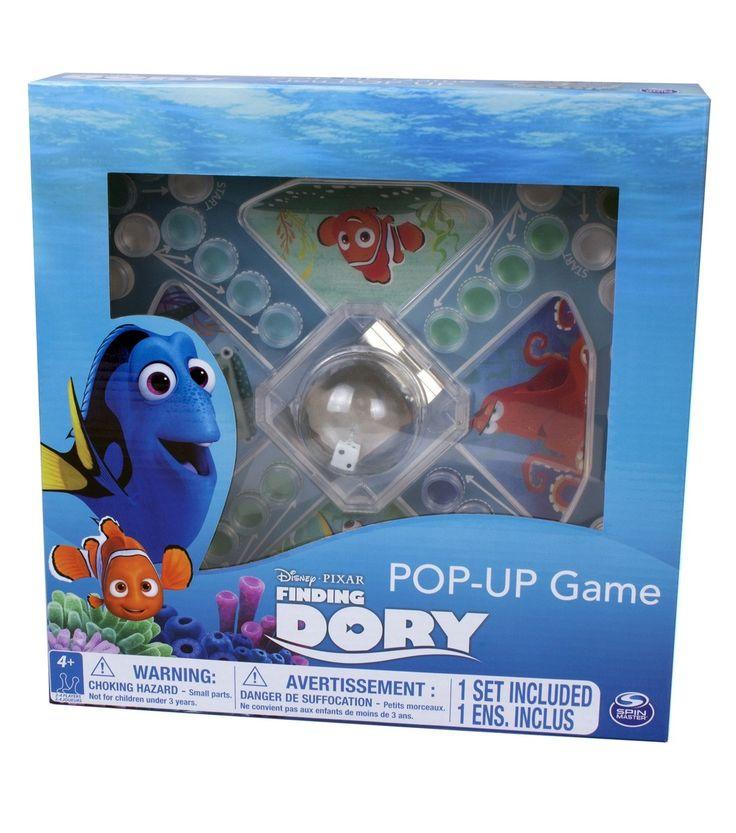 Jeu de trouble - Trouver Doris - 1 planche de jeu avec bouton-poussoir, 16 pions colorés, 1 dé, instructions. -  Age : 4 ans et plus -  Référence : 034925 #Jeux #jouets #Enfant #Cadeau #Vacances #famille