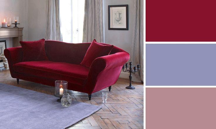 salon romantique rouge et violet