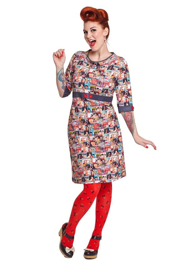 Margot kjole RACHEL ROCK no 746   dansk design med kant