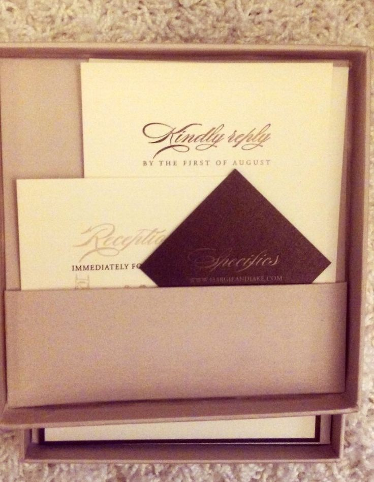 foil stamped website card, letterpress reply card in silk pocket from Chic Ink