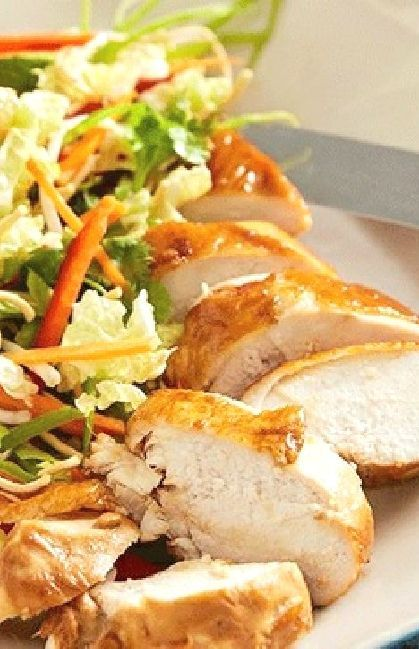Low FODMAP Recipe and Gluten Free Recipe - Lemon chicken with rice noodle salad --- (Update) --- http://www.ibs-health.com/low_fodmap_lemon_chicken_rice_noodle_salad.html