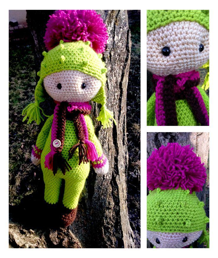 Thistle Tim flower doll made by Renata O - crochet pattern by Zabbez