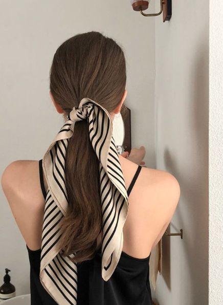 Haarschal für den Sommer