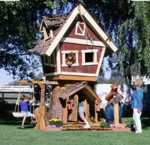 The original treehouse with swing for kids!  Fun!  From http://www.wellappointedhouse.com/Products/152302-the-well-appointed-house-the-original-treehouse.aspx