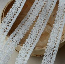 20 Yards Cotton Sewing Lace Trim Bridal Dress Embroidered White Ribbon Lace Tape 1.5 cm DIY Craft YYN405(China (Mainland))