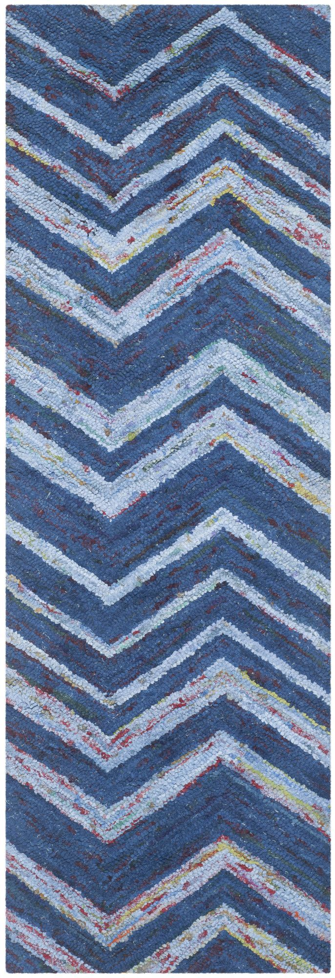 Features:  -Construction: Handmade.  -Technique: Tufted.  Technique: -Hand woven/Tufted.  Primary Color: -Blue.  Material: -Cotton.  Product Type: -Area Rug.  Rug Shape: -Rectangle. Dimensions: Rug Si