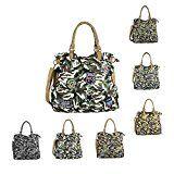 OBC DAMEN MILITARY TASCHE Shopper Camouflage Patches Handtasche Canvas Schultertasche Umhängetasche Army Damentasche Sticker Reisetasche…