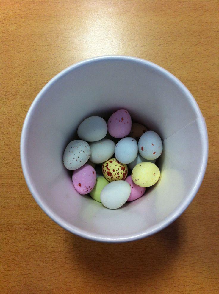 Yum! #minieggs #chocolate