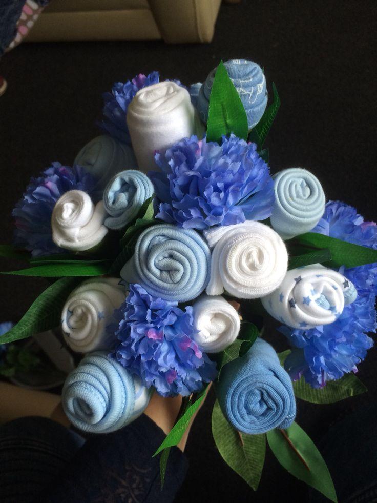 baby sock vest mittens hat bouquet