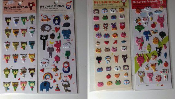 Kawaii Stickers - Animal stickers - Planner Supplies - Midori supplies