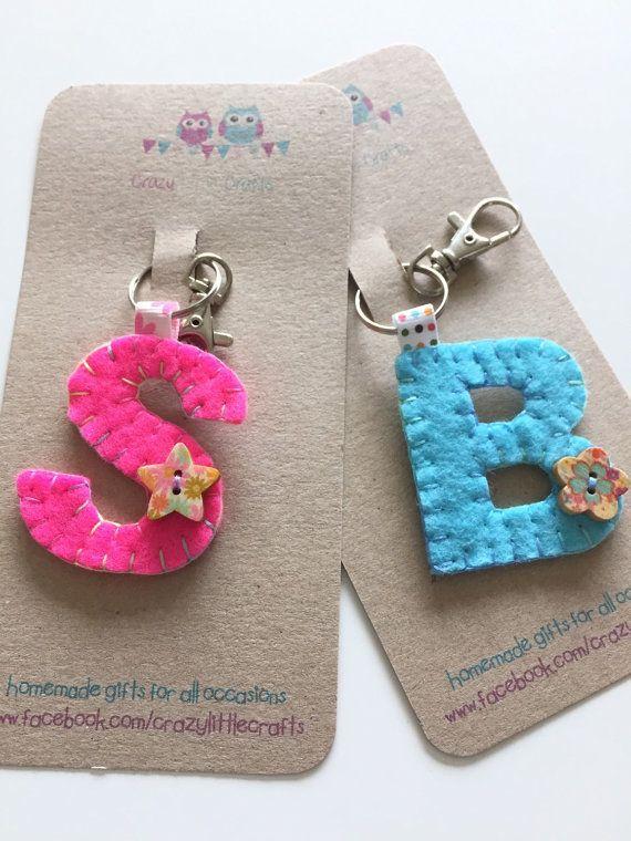 Initial Keyring, Personalised Keyring, Keychain, Bag Charm, Personalised Gift, Initial gifts