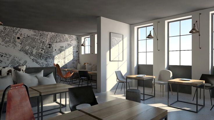 Kawiarnia industrialna | Industrial coffeshop - Marta Czeczko - architektura wnętrz | interior design