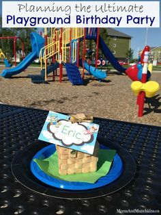Playground Birthday Party - unique & creative ideas for planning a party at the park.