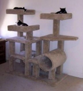 Customer Trees - Cat Tree Plans - How to Build Cat Furniture - Do-it Yourself…