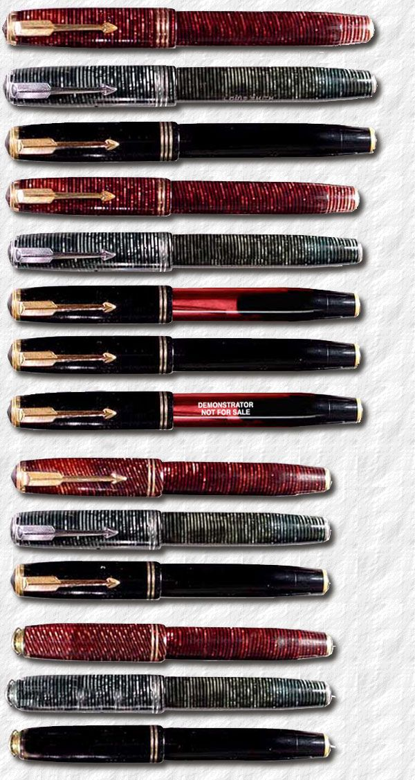 Parker Pens Penography: GOLDEN ARROW/VACUUM FILLER/VACUMATIC