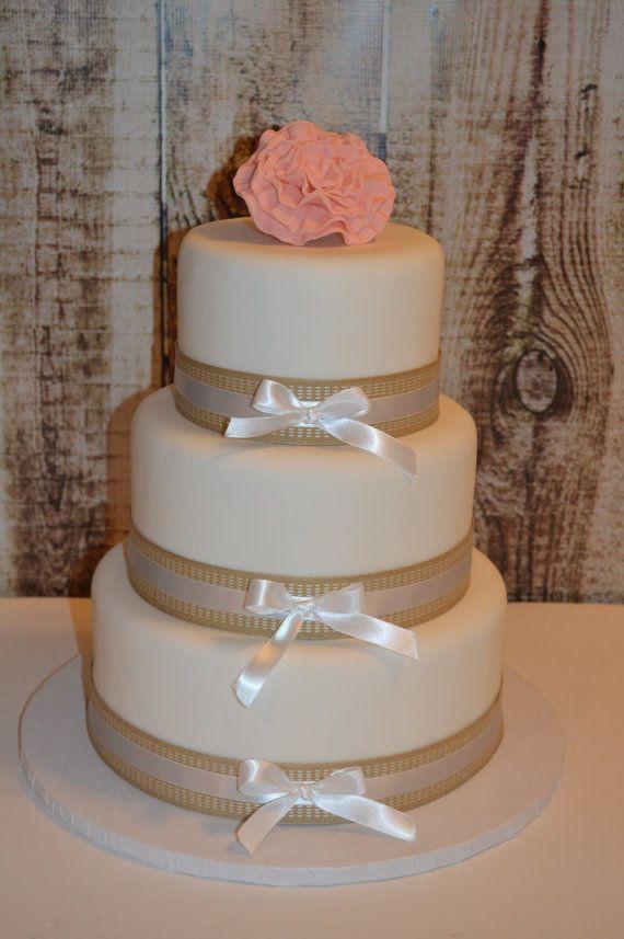 3 Tier Fondant Faux Wedding Cake Fake By CakestorememberLLC