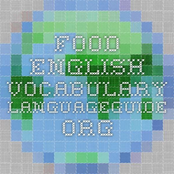 Food - English Vocabulary - IWB activity.