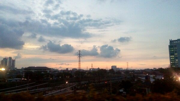 Evening Sunset - Just took this beauty a minute ago when passed flyover ~My City My Jakarta~