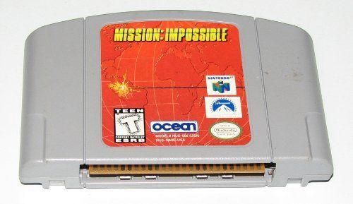 Mission Impossible. Platform: Nintendo 64. Author: Unknown. Hardware Platform: Pc. Rental sticker on back. Genre: Action Video Games. Dimensions: width: 400, height: 1000. Publication date: 1998-08-14.