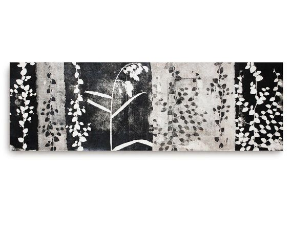Botanical Silhouette monoprint on board by 88editions on Etsy