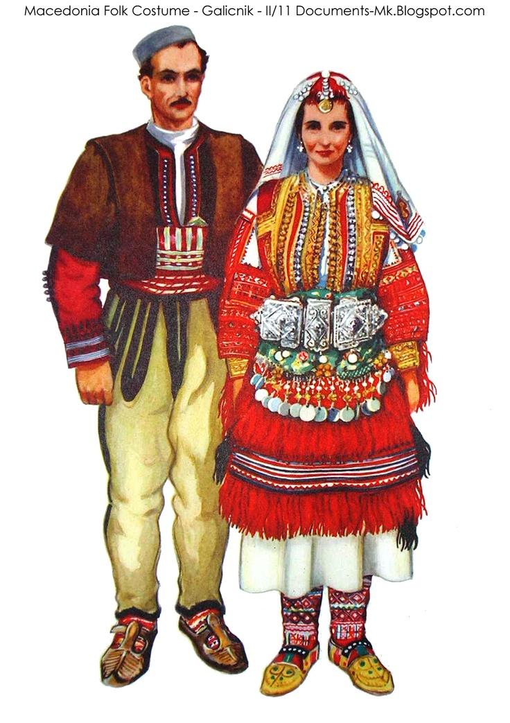 Macedonian Documents: Folk costumes of Macedonia