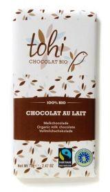 Tohi 70g. Ciocolata organica cu lapte ecologic
