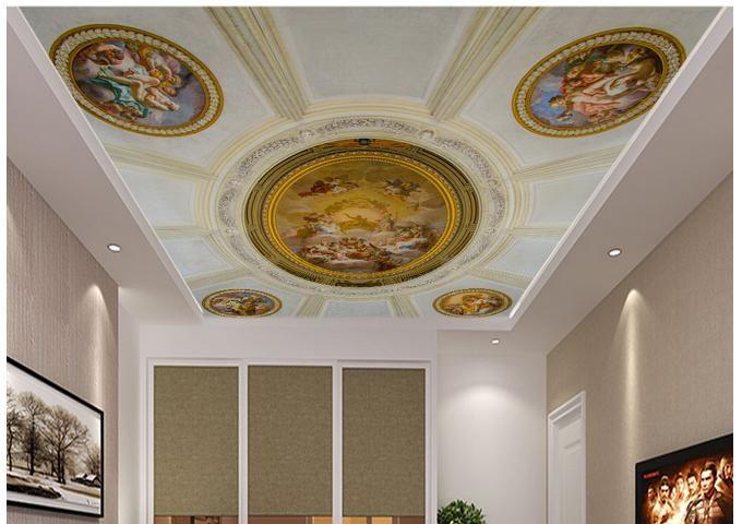 Goedkope 3D foto behang custom 3d plafond behang muurschilderingen Europese zenith schilderen fresco behang 3d woonkamer behang, koop Kwaliteit wallpapers rechtstreeks van Leveranciers van China: