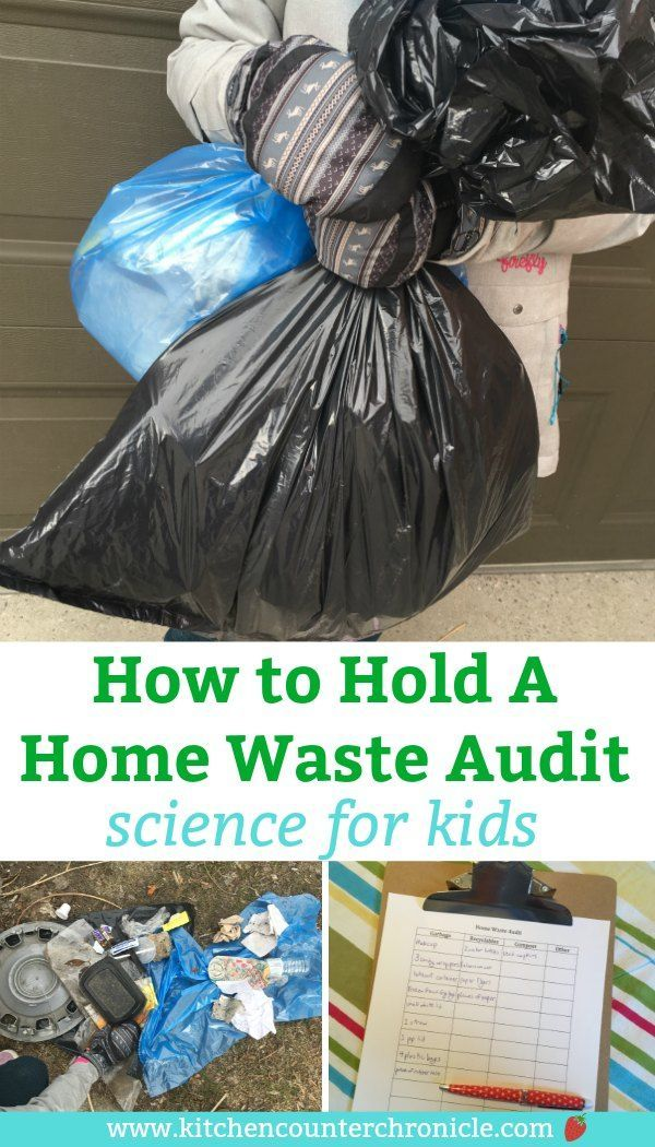 The children's book Here Comes the Garbage Barge inspired this exploration of home waste. Hold a home waste audit and your kids can help with a free printable audit chart. Is your garbage being sorted properly? Environmental science activity for kids of all ages. #STEMforKids #ScienceforKids #environmentalscienceforkids #EarthDayforKids #EarthDay #STEAMforKids #STEMactivity #scienceproject #wasteaudit #freeprintable