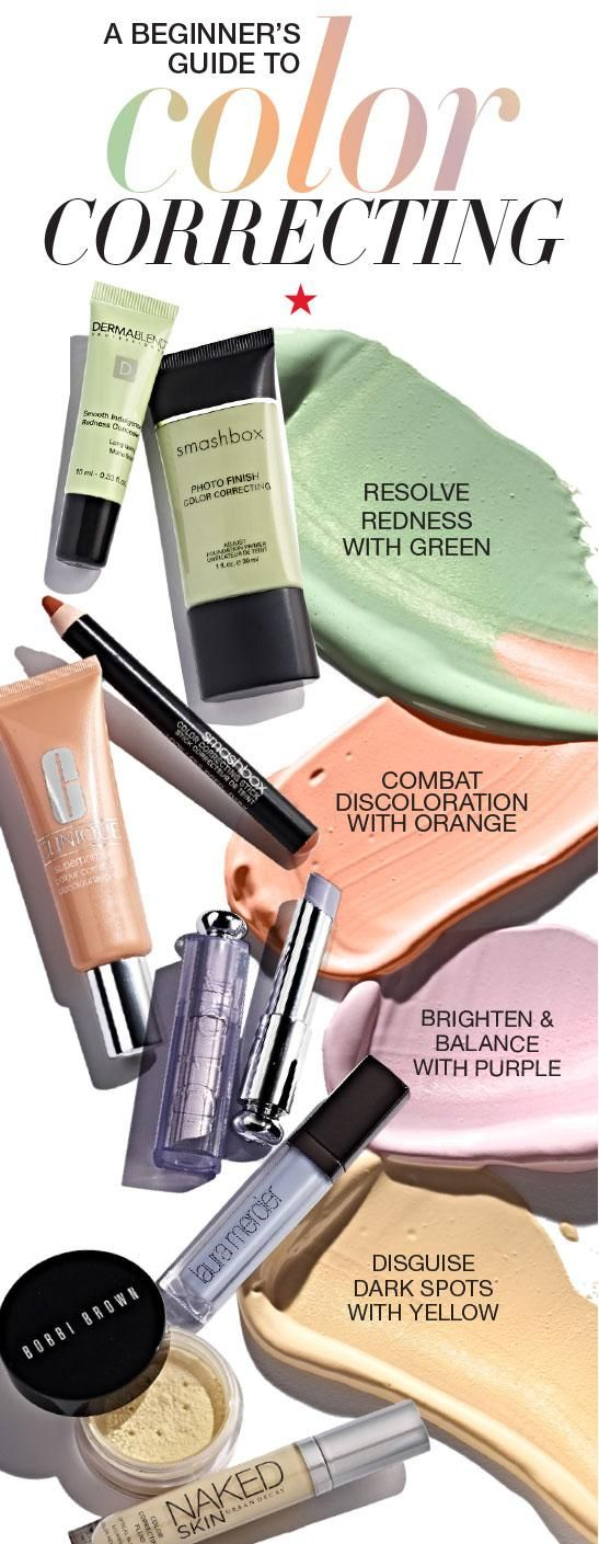 Still trying to find a concealer that perfectly matches your skin tone? Well, stop what you're doing and listen up. The secret to flawless skin is using colors that are much different than your natural complexion. Green, pink, purple and yellow may not be your average concealer colors, but they actually help fix pesky skin issues like under eye circles, dark spots, yellow patches and dullness that regular shades can't easily cover up. Check out this guide to find out which colors do what.
