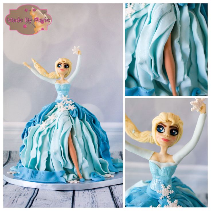 Frozen theme doll cake, tutorial from Ipoh Bakery