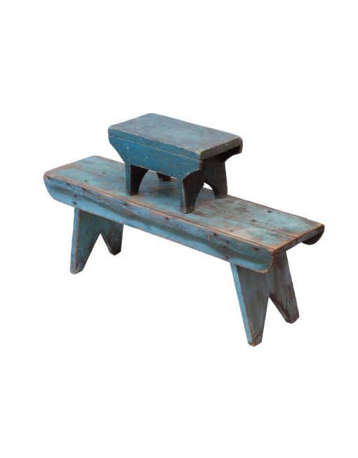 Two Blue Benches exactly what I need for my knit bench pillows