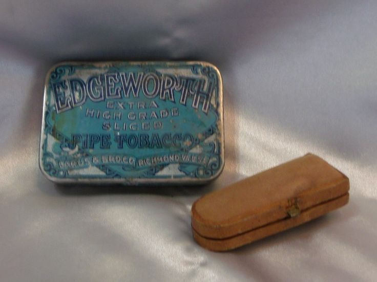 Antique Meerschaum Cigar Holder Case & Edgeworth Sliced Pipe Tobacco Tin Litho Container Tobacciana Smoking Collectibles by EclecticJewells on Etsy