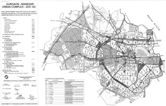 Gurgaon Master Plan 2031 Map