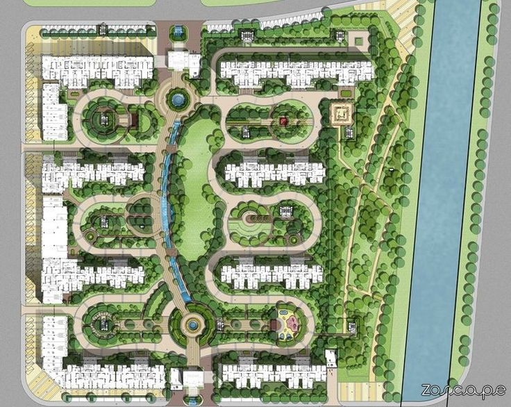 residential house planing design master plan landscape architecture layout