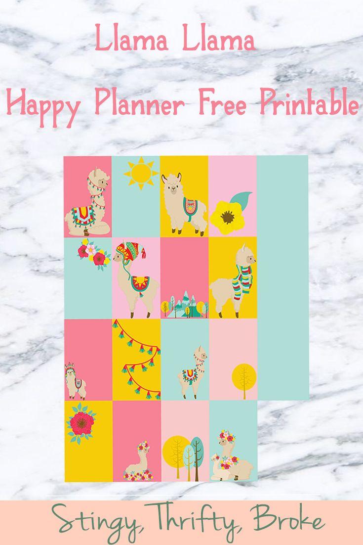 Llama Llama Happy Planner Free Printable Stingy Thrifty Broke Happy Planner Free Printable Happy Planner Printables Free Planner Stickers