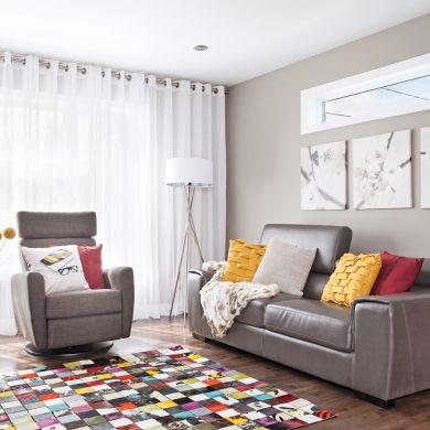 Accessoires colorés pour le salon - Salon  - Inspirations - Décoration et rénovation - Pratico Pratiques