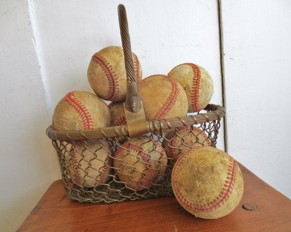 Play Ball... Vintage Baseball Collection Set of 5 by InWithTheOld, $24.00
