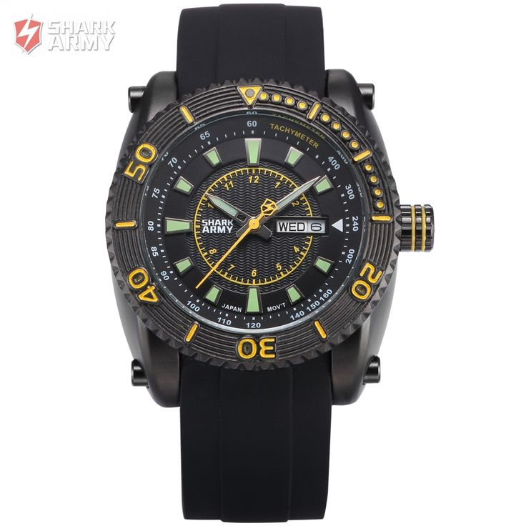 SHARK ARMY Military Watch Marine Collection Voodoo III Series Model SAW159 Quartz Wrist Watches //Price: $35.98 & FREE Shipping //         #SharkTimepiece