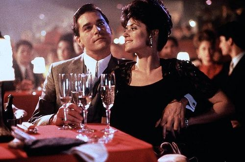 """Goodfellas - right after the scene of them walking through the kitchen into the night club, when she asks him what """"he does"""", he replies, """"I'm in construction"""" and she touches his hand and says """"It doesn't look like constructions."""" """"I'm a union delegate"""". Yep -  have seen this just a few times"""