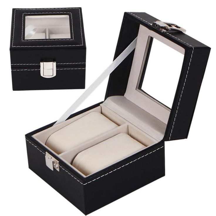 ot02 New Luxury 2 to 24 Grid Leather Watch Box Jewelry Display Collection Storage Case Watch Organizer Box Holder