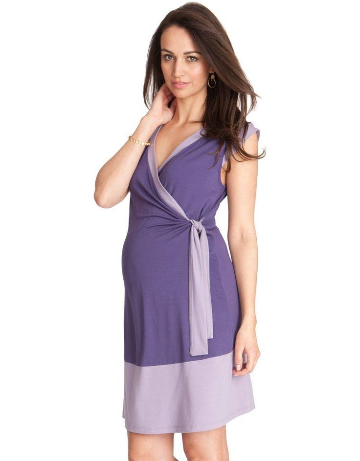 Simpla dar foarte stylish, rochia pentru gravide si mamici Purple Bianca are un design destept. Ideala pentru sarcina, dar si pentru perioada alaptarii. Materialul este un jerse moale, potrivit pentru orice moment al zilei. Are 2 nuante de mov superbe, usor de asortat si de sezon.