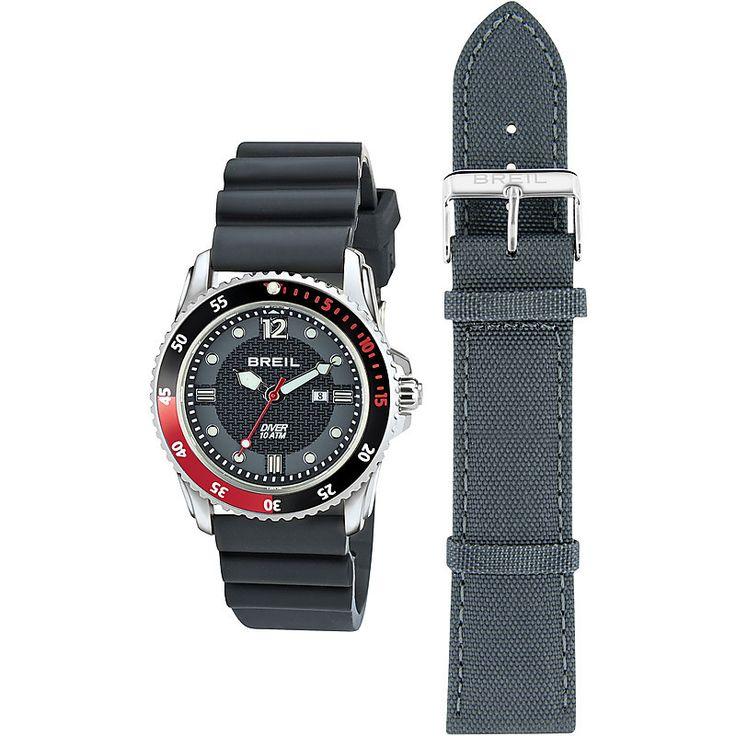 Orologio unisex in acciaio della nuova linea Breil Oceano, ideale per chi cambia spesso look. Con movimento al quarzo, ghiera girevole e sfere con luminous