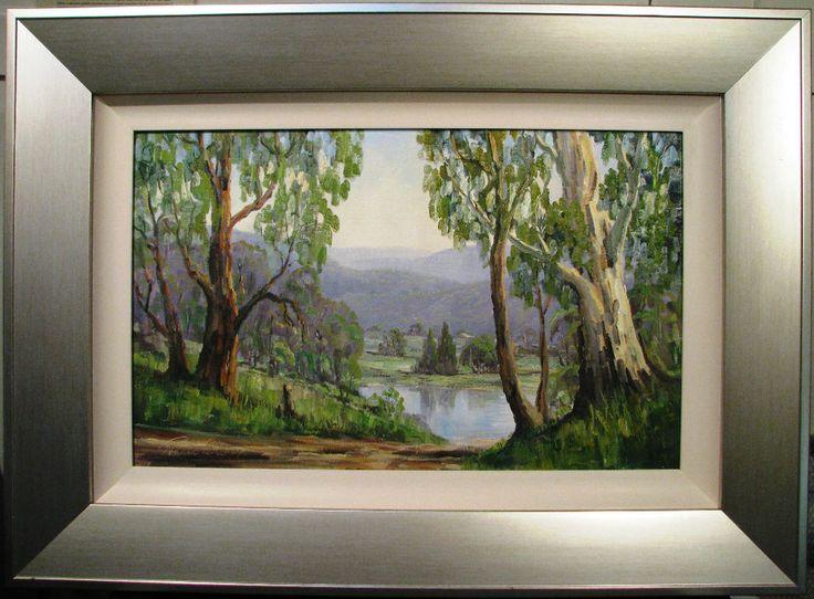 Ronald Peters Australian  oil titled  Oberon Scene in November  Australia