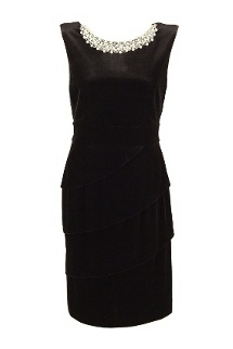 Royal Couture Black Velvet & Pearl Tiffany Dress- I LOVE THIS I need it!!!