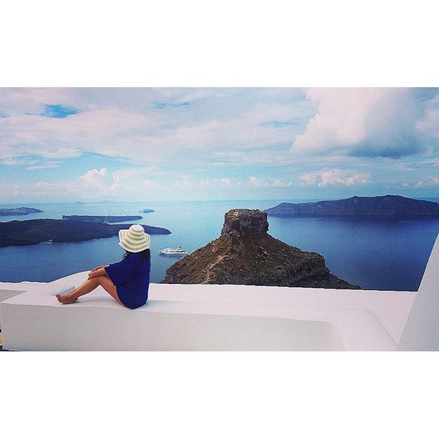 Paradise at every turn! Our guest curlykarensa captures all the breathtaking beauty of #Santorini in one gorgeous picture! - at #AstraSuites