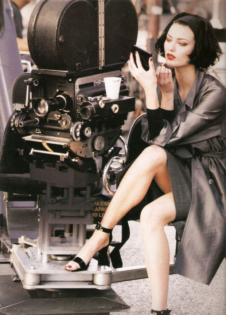 Shalom Harlow by Peter Lindbergh - DKNY 1995